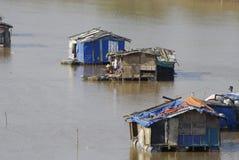 Invånarna av floden   Arkivfoto