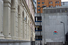Invader murale london. A space invaders murale in london Stock Photo