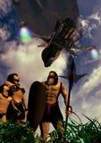 Invaderade infödingar Arkivbild