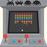 Invaders arcade machine Stock Images