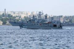 Inval het duiken boot van de nieuwe generatie van Russische Marine Stock Foto's