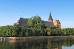 The invalid cathedral constructed in style of the Baltic gothic style Royalty Free Stock Photos