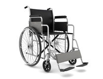 Invalid chair isolated on white background Stock Photo