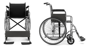Invalid chair isolated on white background Stock Image
