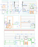 Invalid drawing architecture minimal space Royalty Free Stock Photo