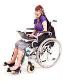 Invalid girl on wheelchair Royalty Free Stock Image