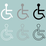 Invalid icon handiccapped person disabled or disabled person. Set icons royalty free illustration