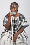 Invalid old African woman royalty free stock images