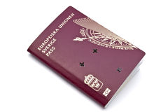 Invalid Swedish passport Royalty Free Stock Photo