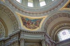Invalide的圣路易斯大教堂的内部绘画  图库摄影