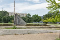 Invaliden park with Invaliden wall or Mauerbrunnen in Berlin, Germany. Royalty Free Stock Photo