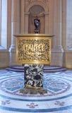 Invalides的圣路易斯大教堂的内部  库存图片