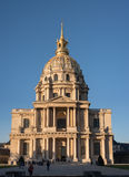 Invalides with afternoon sun in Paris Stock Photography
