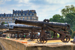 Invalides cannon array Stock Photography