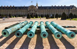 Invalides cannons Stock Photo