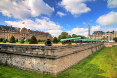 Invalides moat cannons Royalty Free Stock Image