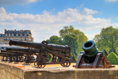 Invalides mortar cannons Stock Image