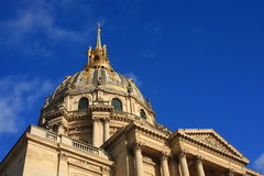 The Invalides museum. In Paris  is the burial place for many great French soldiers, including Napoleon Royalty Free Stock Image