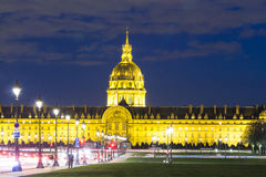 The Invalides museum in evening. Stock Photography