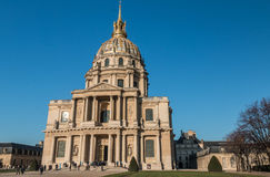 The Invalides Palace in Paris Stock Images
