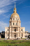 Invalides in Paris. Paris/France - October 6, 2009: Les Invalides is a complex of museums and monuments in Paris,and the burial site for some of France's war Royalty Free Stock Photos