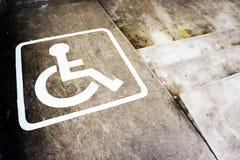 Invalidités de signe Photos stock