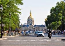 Invalids的全国住所在巴黎。 库存图片
