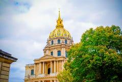 Invalids的法国全国住所在巴黎 免版税库存照片