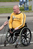 invalids运动员起始时间 库存图片