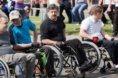 invalids οι αθλητικοί τύποι αρχί&zeta Στοκ Εικόνες