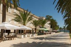Invallning av den Tivat staden Montenegro royaltyfria bilder