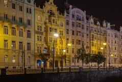 Invallning av den Vltava floden, Prague Royaltyfri Bild