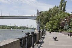 Invallning av Don River Fiskare fiskar Fotografering för Bildbyråer