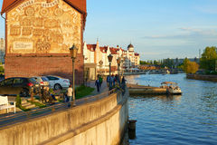 Invallning av fiskeläget Kaliningrad Royaltyfri Foto