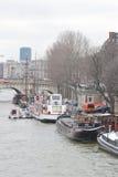 Invallning av floden Seine i Paris Royaltyfria Bilder