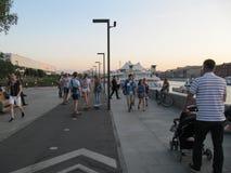 Invallning av Moskvafloden Arkivbilder
