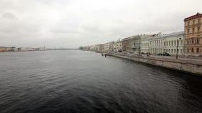 Invallning av Neva River arkivfilmer