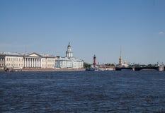 Invallning av St Petersburg arkivbild