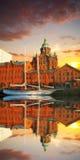 Invallning i Helsingfors på sommaraftonen, Finland royaltyfri fotografi