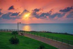 Invallning på solnedgången arkivfoton
