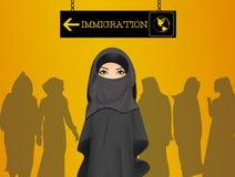 invandring stock illustrationer