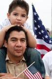 invandring samlar washington Arkivbild