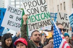 Invandringdagmars, i stadens centrum Los Angeles Royaltyfri Fotografi