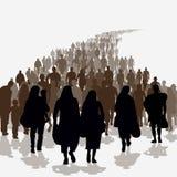 Invandringfolk royaltyfri illustrationer