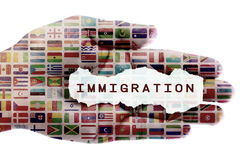 Invandringkris arkivfoton