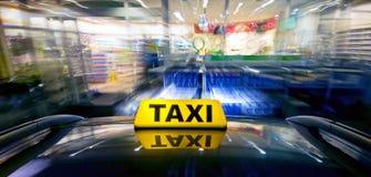 Invasão da ram do táxi Foto de Stock Royalty Free