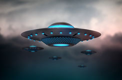 Invasão do UFO ilustração stock