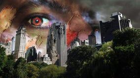 Invasão dos zombis foto de stock