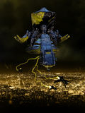 Invasão estrangeira da noite Fotografia de Stock Royalty Free
