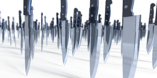 Invasión del cuchillo Imagen de archivo